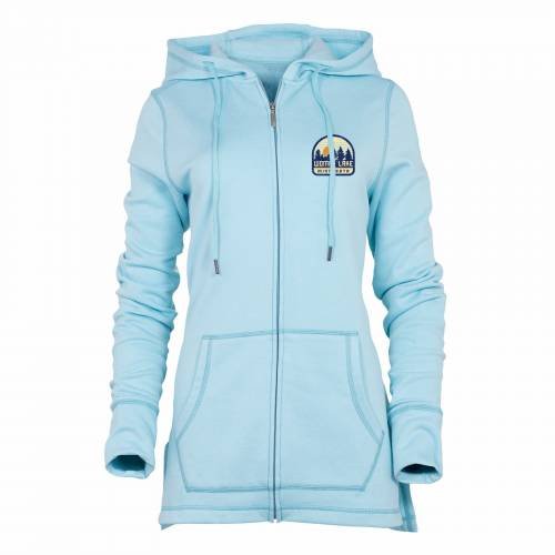 Women's Caribbean Heather Cozy Lounge Full Zip Hood