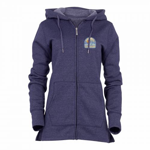 Womens Navy Cozy Lounge Full Zip Hood